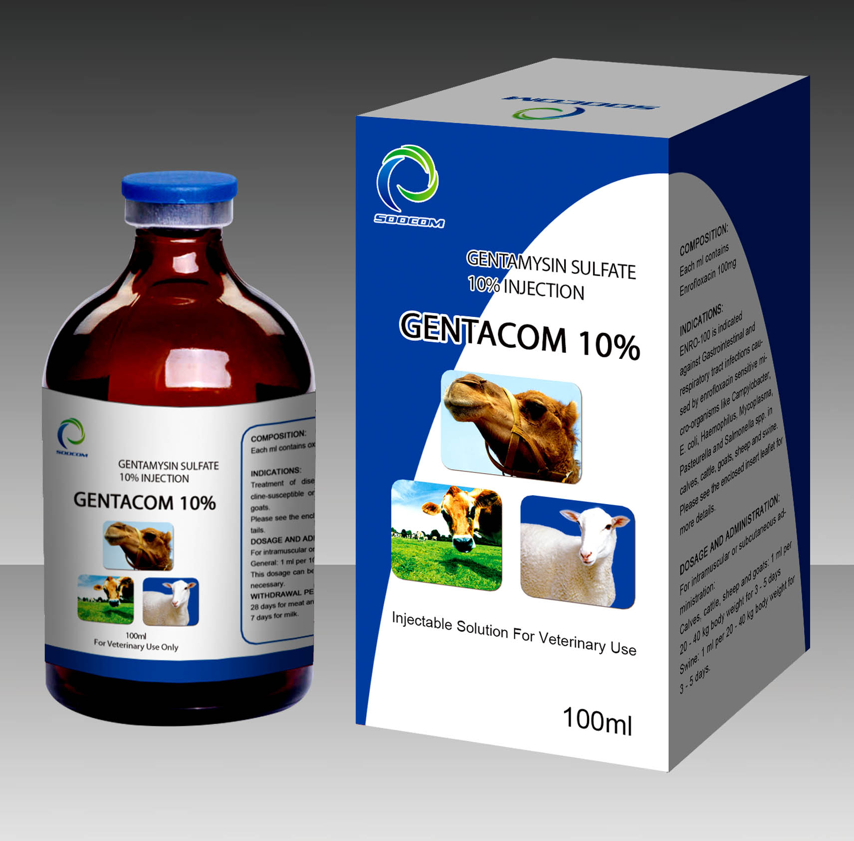 GENTACOM 10% GENTAMYSIN SULFATE 10% INJECTION